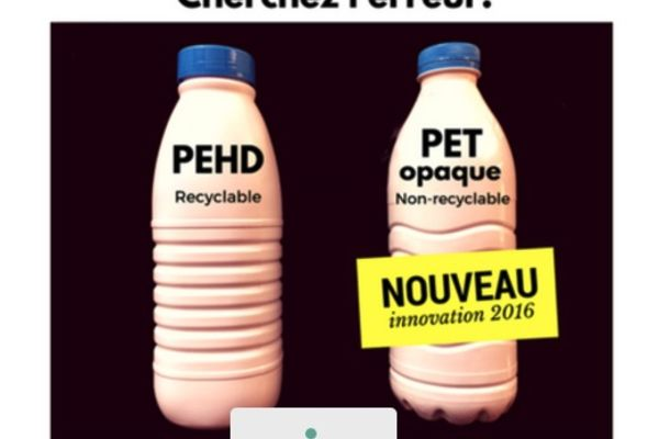 Une pétition contre le PET opaque
