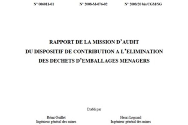 La mission d'audit remet son rapport